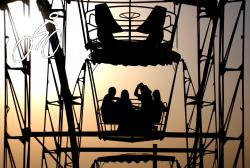 Ferris wheel ride in Shymkent