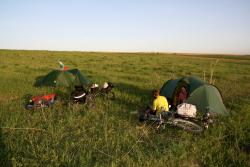 First campsite in Kazakhstan