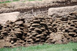 Dung piled up to dry