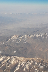 Mountains as seen from the plane. Pakistan?