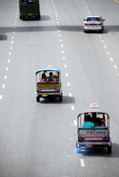 Tuk tuks on the roads of Bangkok