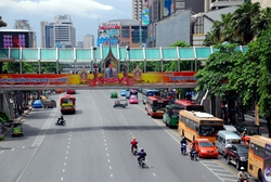 Relatively quiet Bangkok roads