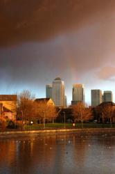 Rainbow over Canary Wharf
