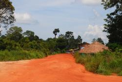 Dirt roads at the Anlong Veng border