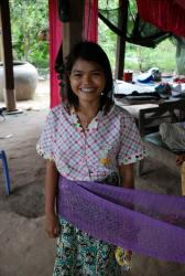 A cheery Cambodian teenager