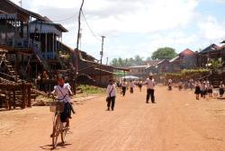 Kids in a village near Tonle Sap