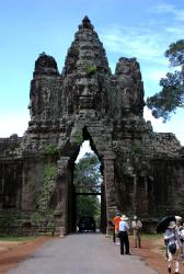 The entry gates of Angkor Thom