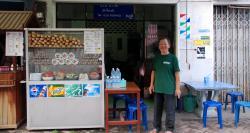 Baguette seller in Vientiane