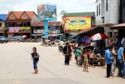 The bustling town of Phou Khoun