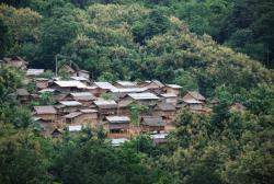 Traditional village in northern Laos
