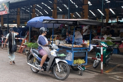 Grilled banana stall in Mae Sot