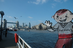 Flat Stanley's journey around London