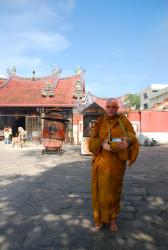 A monk we enjoyed talking with