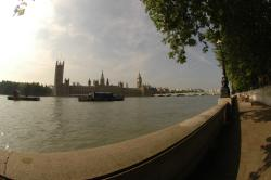 Fisheye view of the Thames