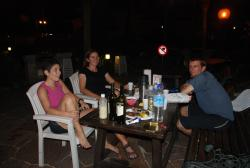 First night with new friends, Patrizia and Bro
