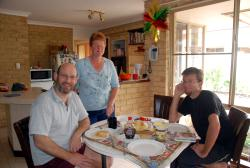 A wonderful breakfast with Andrew and Joanne