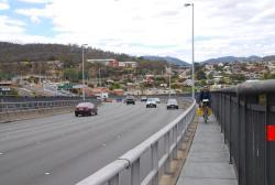 Coming over the Tasman Bridge