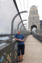Andrew on the Sydney Harbour Bridge