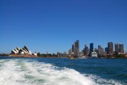 The Opera House seen from a ferry