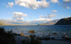 A nice day dawns as we leave Wanaka