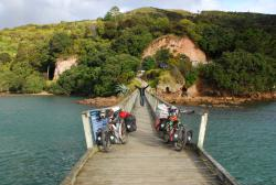 Our bikes at the Coromandel Ferry Dock