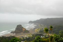 An atmospheric Piha Beach