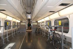 A bike carriage on the Caltrain