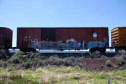 Old railway cars near Alturas