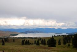 View over Flathead Lake