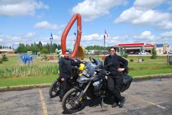 Motorbikers we met going to Alaska