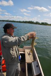 Darren holding up the day's only catch
