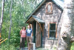 A cabin built by one of Brian's friends, Bruce
