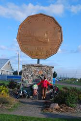 The big Loonie statue just outside Sault Ste. Marie