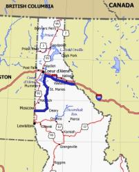 Idaho State Route Map