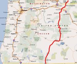 Oregon State Route Map