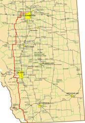 Alberta Route Map
