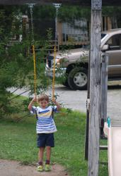 Owen on the swing