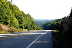 Hilly roads in Algonquin Provincial Park