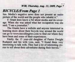 Deer River Newspaper Article page 2