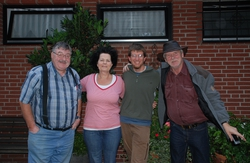 Saying goodbye: Paul, Christa, Andrew and Horst