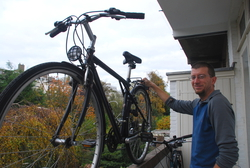 Andrew with Friedel's new bike
