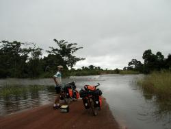 Flooded road in Republic of Congo