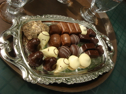 A beautiful tray of chocolates at the Cabosse d'Or