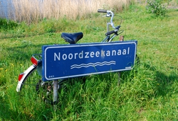 A bike on the North Sea Canal