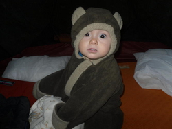Lennon in bear suit