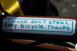 Please don't steal my bike