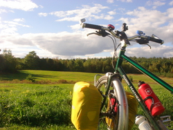 Bike in the sunshine