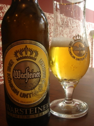 Warsteiner Bier, cheaper than a can of coke