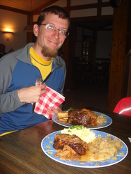 A huge German meal in the pub