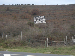 Another sign protesting against wind turbines